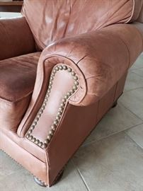 Drexel's Heritage leather club chair