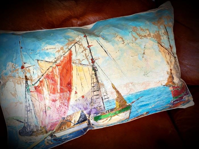 custom pillow made from an oil painting!