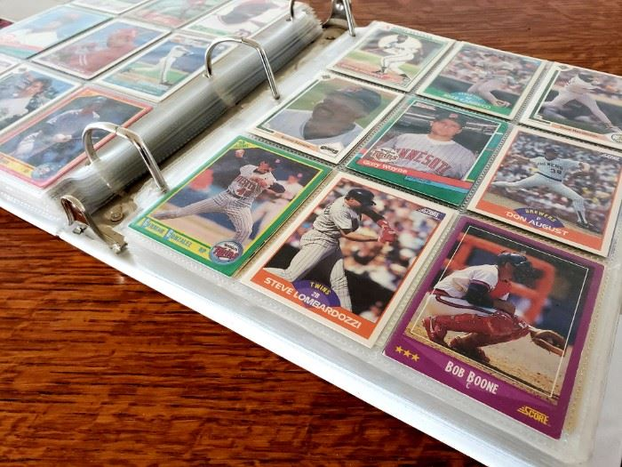 binder full of trading cards