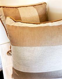 pair custom linen pillows