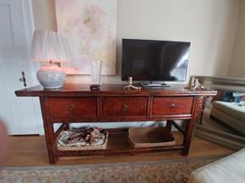 Antique Asian sideboard Also a fabulous television or sofa table