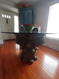 Impressive capitol top pedestal dining table Only $250.00