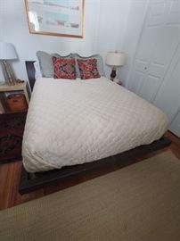 Front view of Italian designer bed
