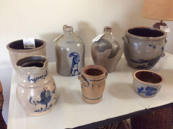 Antique crocks and jugs