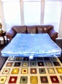 Queen-size mattress inside Sleeper Sofa.
