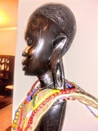 "Side view of ""Makonde"" Sculpture."