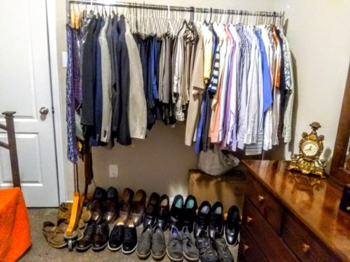 Great collection of men's clothes and shoes.
