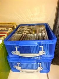 Two tubs of CD's 1970's - 1980's.
