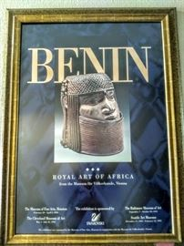 Poster of Royal Art of Africa Exibition at the Houston Museum in 1994.