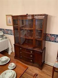 "Beautiful Bassett China Cabinet ""Old Shirley Collection"""