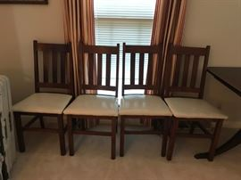 #2 Mission Style Dining Chairs (4)   Sold as set  $120.00