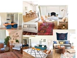 Sofas, living room chairs, coffee tables, dining tables and chairs, rugs, art and more!