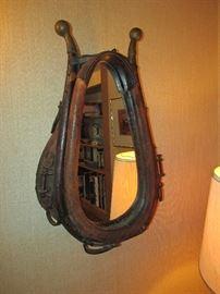 Unique horse collar mirror