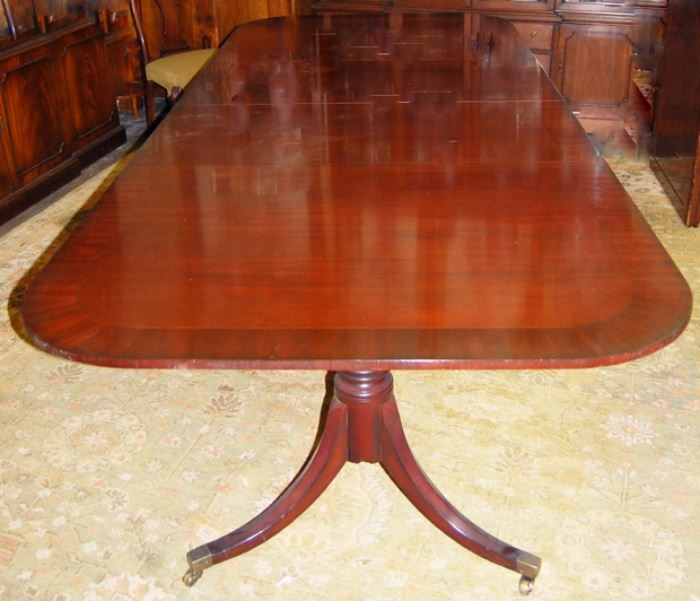 Baker Dining Table with 3 leaves