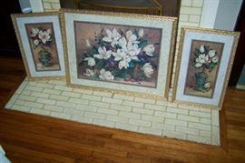 Art Magnolia prints set of 3