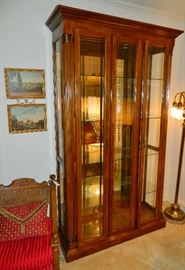 Curio Cabinet with front load doors, lighted