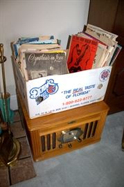 Lots of vintage sheet music, Crosley record player