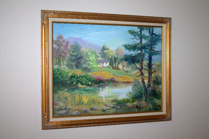 Small framed original oil painting