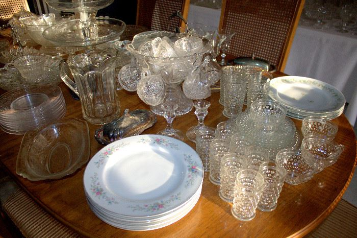 Glassware, china (some of these items may have sold)