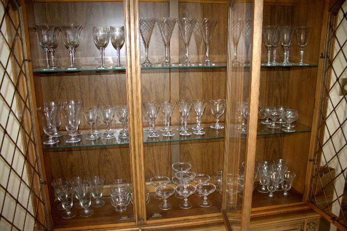 Many sets of stemware (some of these items may have sold)
