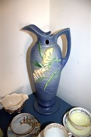 "Roseville Pottery ""Freesia"" 21-15 ewer"