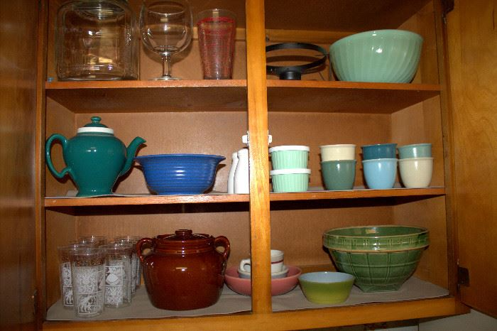 Jadite, McCoy pottery,  and other vintage kitchen items
