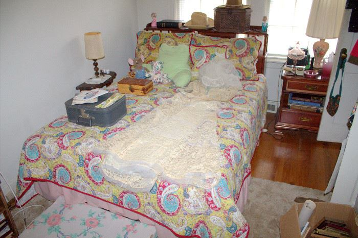 Pennsylvania House bedroom set - full bed, nightstand, dresser with mirror, and chest-of-drawers