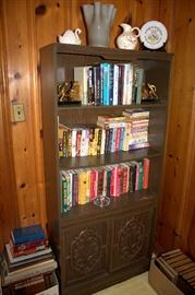 Bookcase, books (some of these items may have sold)
