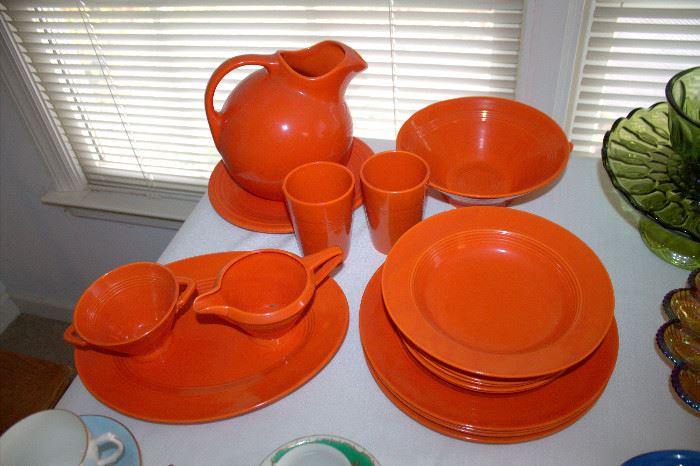 Fiesta / Harlequin red dishes (some of these items may have sold)