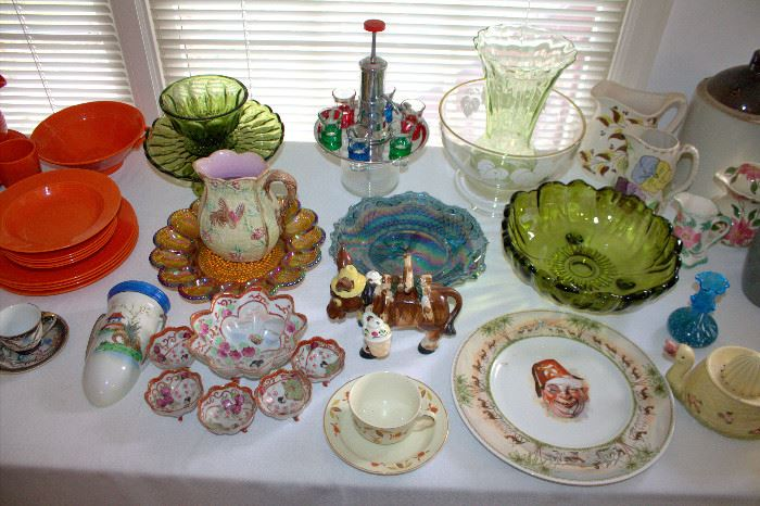Vintage glassware, Japanese porcelain, and more!
