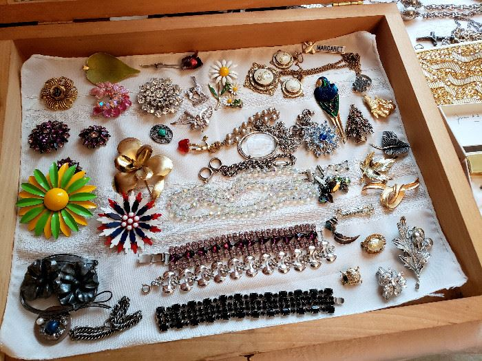 Vintage costume jewelry (some of these items may have sold)