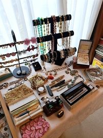 Vintage costume jewelry, watches, pocket knives, fountain pens, and more! (some of these items may have sold)