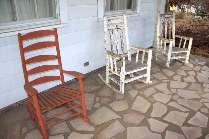 Red rocking chairs still available (white ones sold)