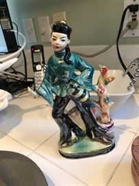Porcelain Asian figurine; occupied Japan