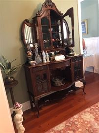 Ornate mirrored sideboard antique