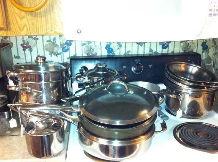 Pots & pans - stove is not for sale