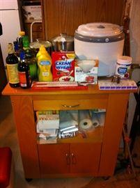 Nesco dehydrator, kitchen cabinet