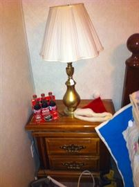 Night stand - 2 of these, collectible coke bottles