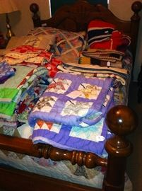 Bed, quilts