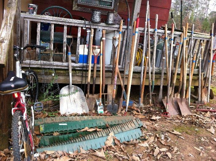 Yard tools, bicycle
