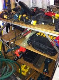 Drills, saws, sanders
