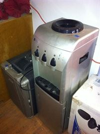 Water cooler, office chair still in box