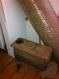 Cast iron stove, carpet padding