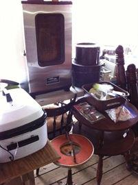 Masterbuilt electric smokehouse, round table