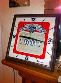vintage Budweiser light clock