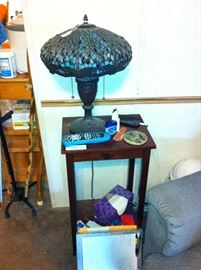 Small table, lamp