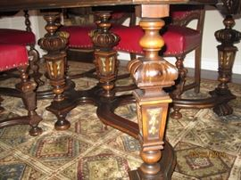 View of Dining Table Legs