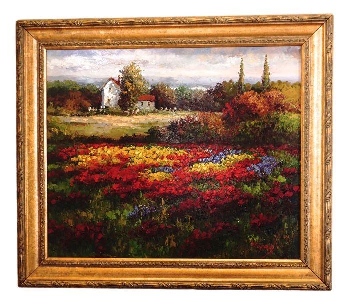 Vibrant flower Field
