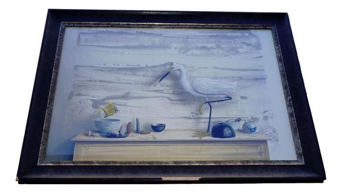 200 Snowy Egret Surrealism by Jason Wheatley