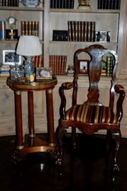 English 18th Century Burlwood chair